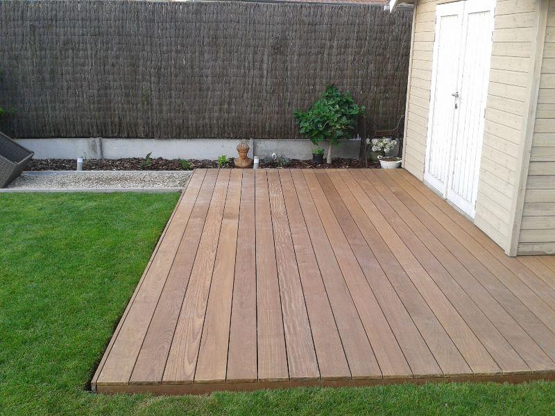 Houten afsluitingen houten afsluiting - Bank terras hout ...
